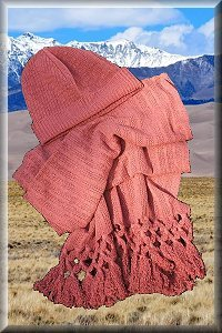 Hemp Knit Hat And Shawl Set.