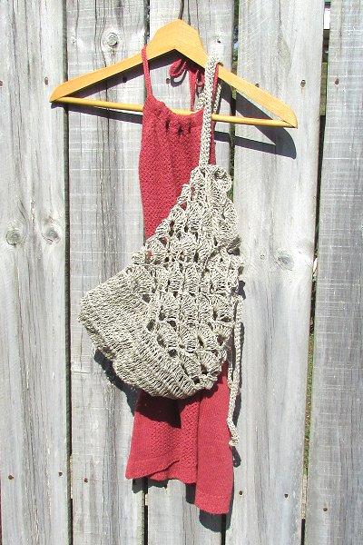 Eco Friendly Hemp Scallop Crochet Bag American Made