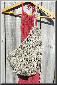 Hemp Scallop Crochet Bag.
