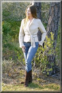 Eco Friendly Hypoallergenic Organic Indian Summer Fringe Jacket.