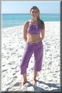 Eco-Friendly Hypoallergenic Organic Capri Lounge Pants.