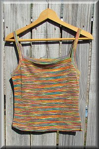 Hemp Knit Rainbow Blouse Blouse.