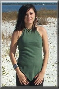 ORGANIC Flip Wrap Below Knee Dress (light hemp/organic cotton knit) - organic