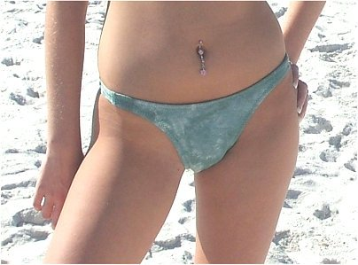 Girl In Small Thong