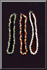 Trio Of Diamond Cut Necklaces.